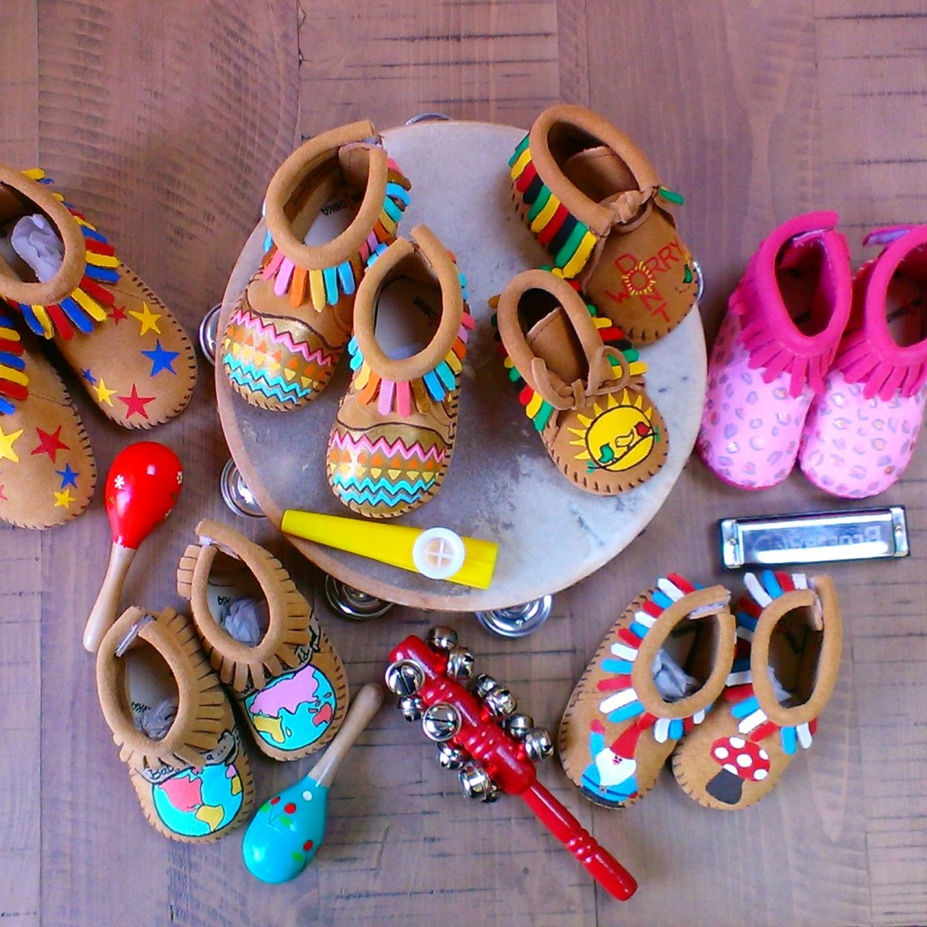 5 SET of SIX+ Baby or Kids Custom Theme Birthday Party Moccasins Favors
