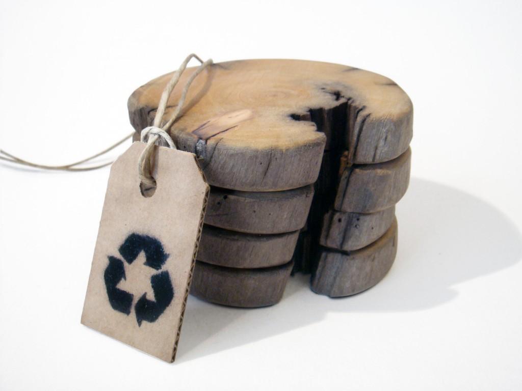 2 Driftwood coasters