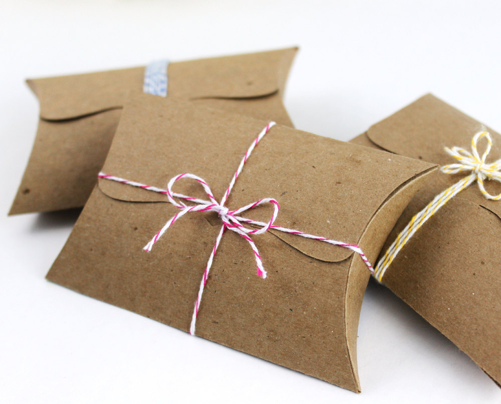 2 Pillow Boxes with Tab Tuck Closure