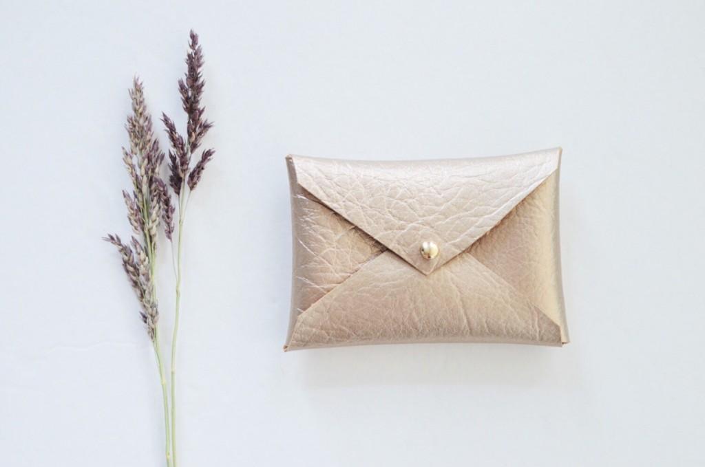 3 Vegan Gold metallic wallet