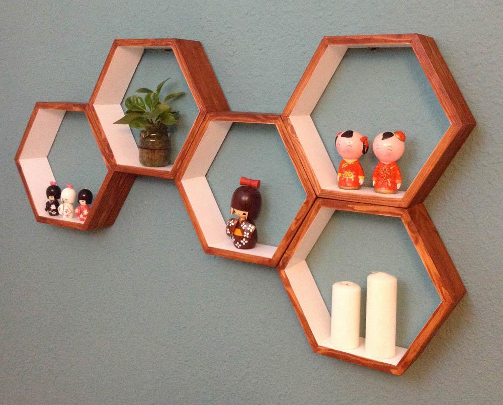 3 Wood shelves