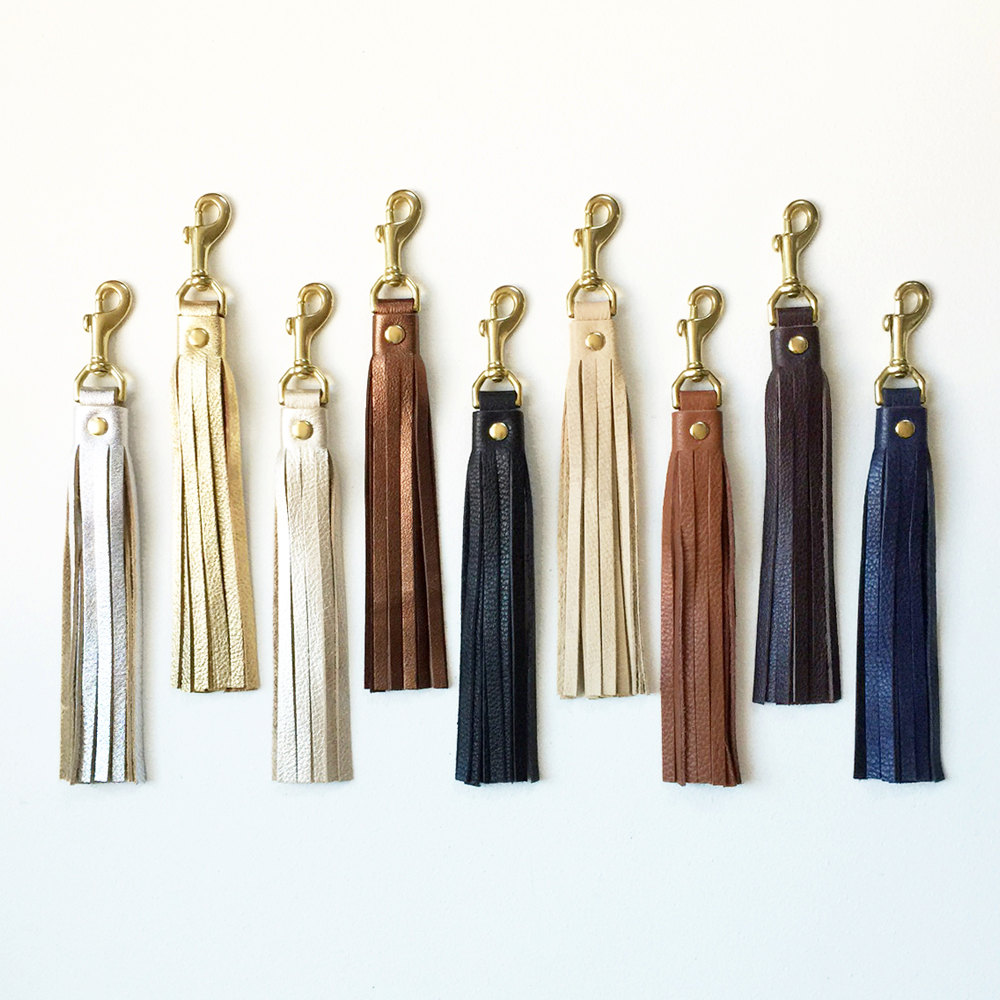 5 Leather Tassel Keychain