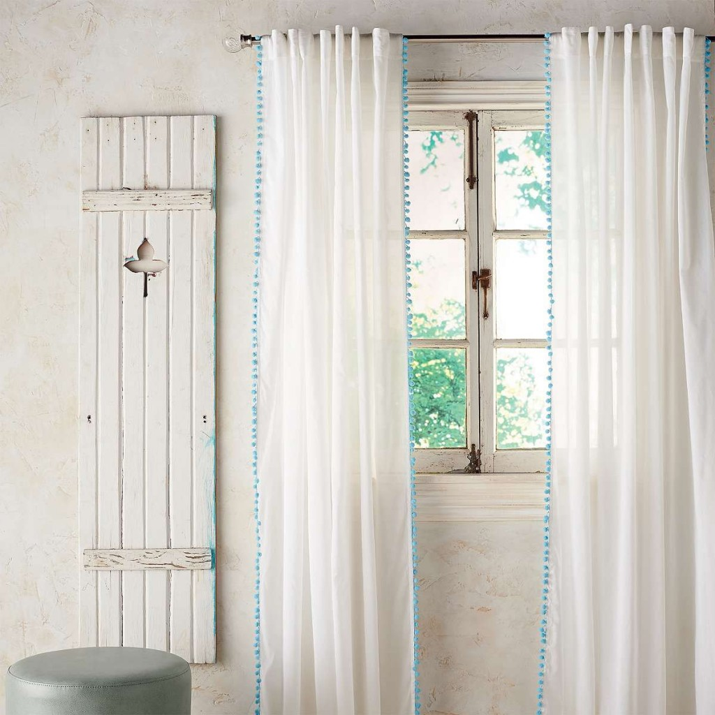 3 Pair Pom Pom Sheer Curtain