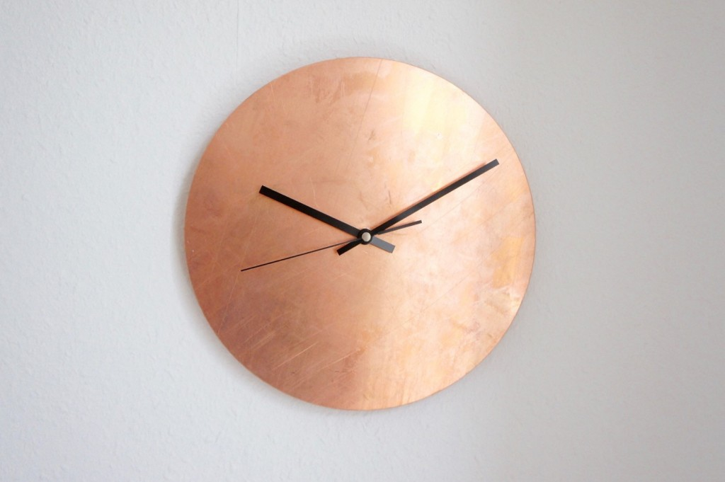 4 Copper Raw Wall Clock