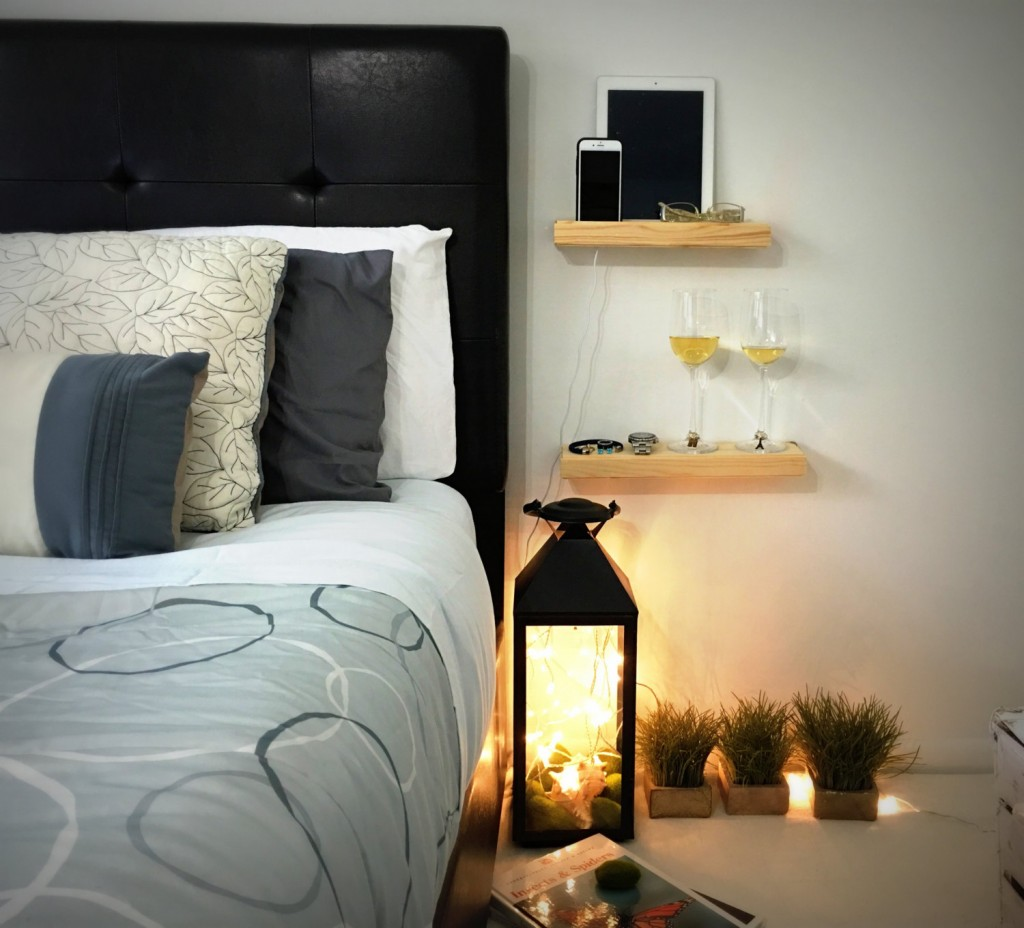 4 Wooden docking station and night stand