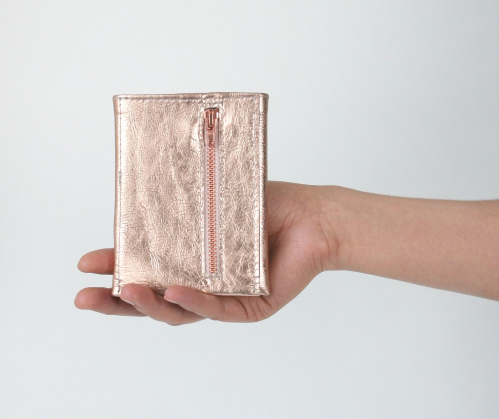 1 Copper Trifold Wallet