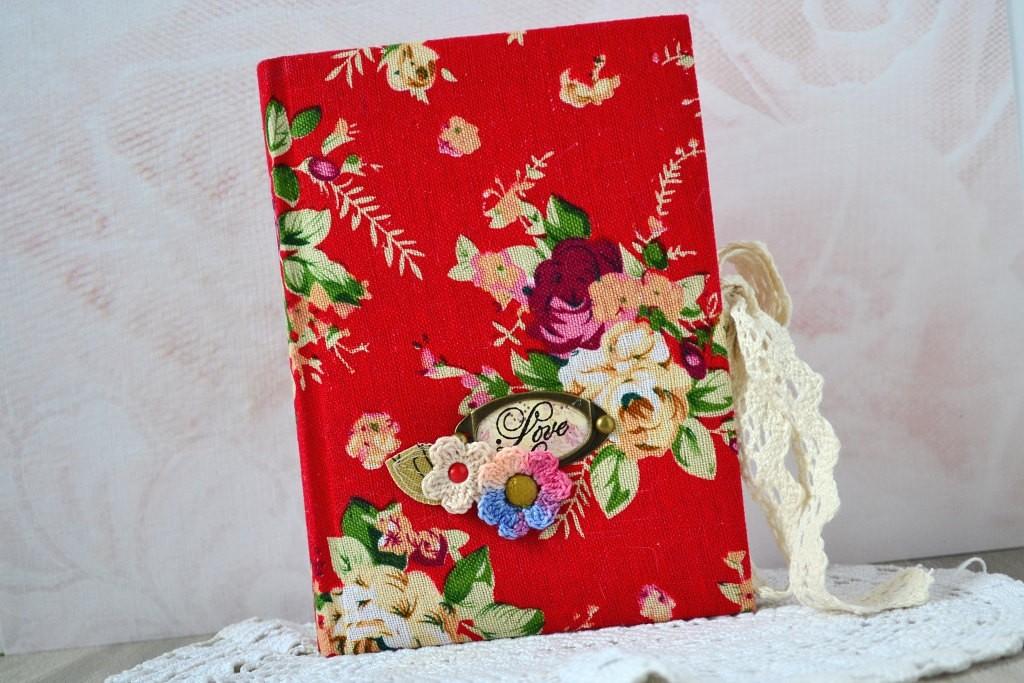 2 A6 notebook floral Handmade journal