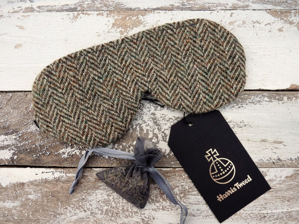 3 Harris Tweed eye mask