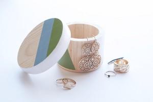 Round Trinket Box by freshwoodstudio on Etsy