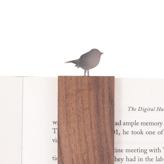1 Gift Book Bookmark Aluminium Wood