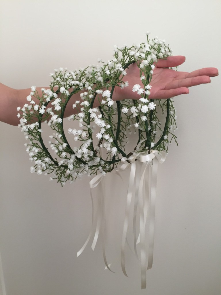 2 Babys breath crown