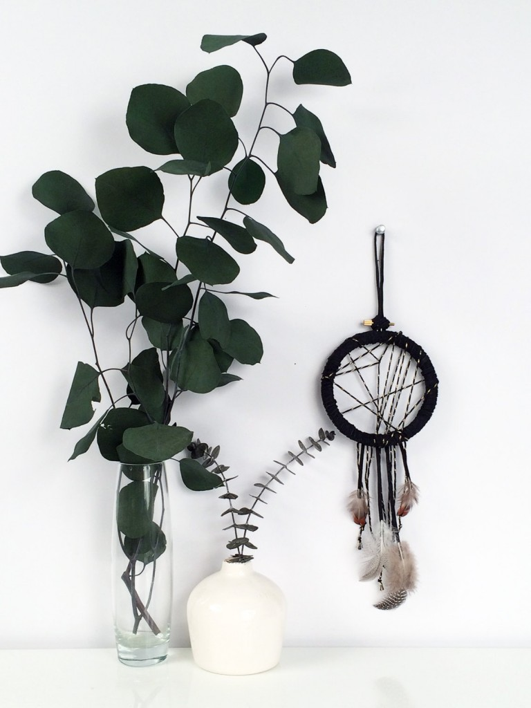 3 Boho Black Dreamcatcher