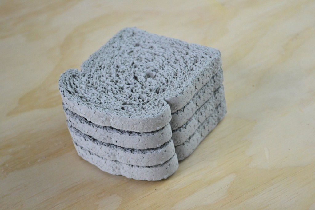 3 Whole wheat Concrete Coasters