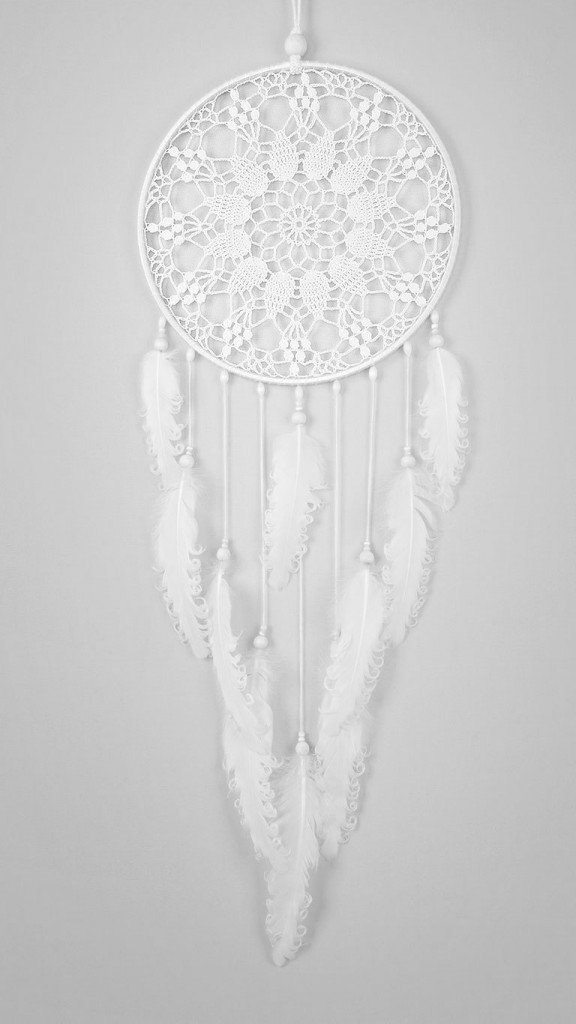4 Large White Dream Catcher