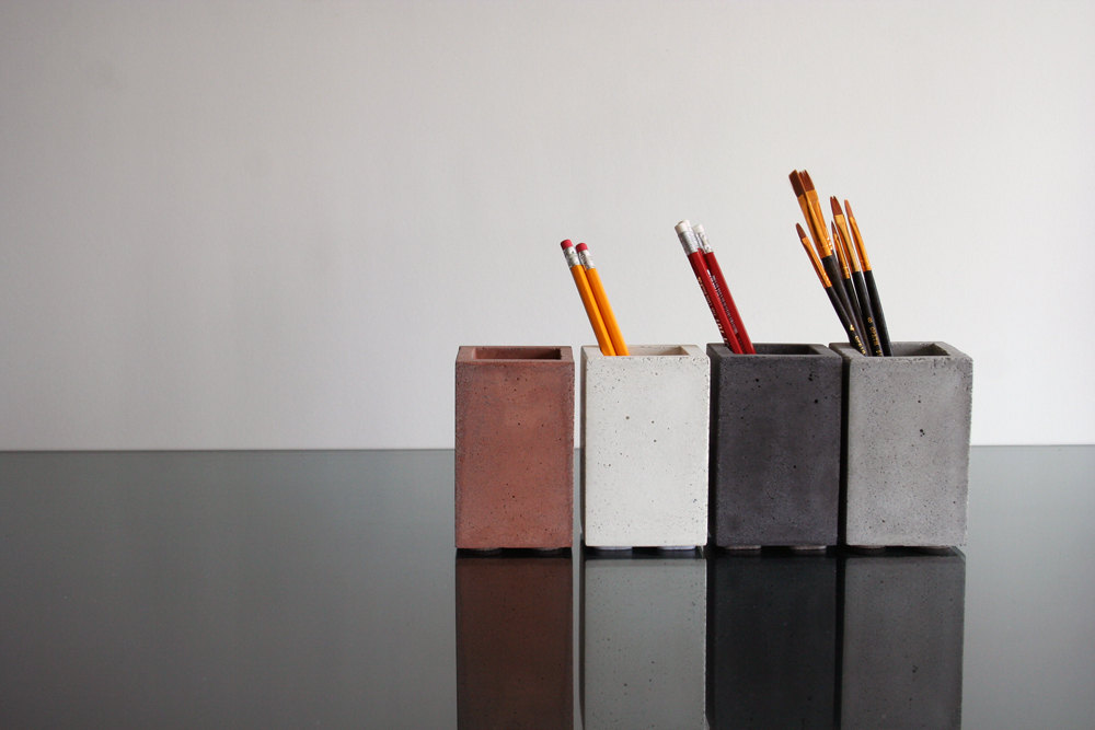 5 Concrete Pencil Holder