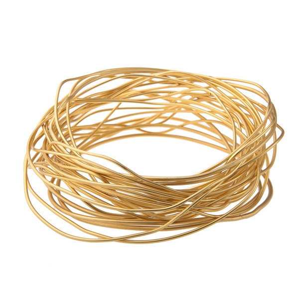 3 Gold Bangles Bracelet