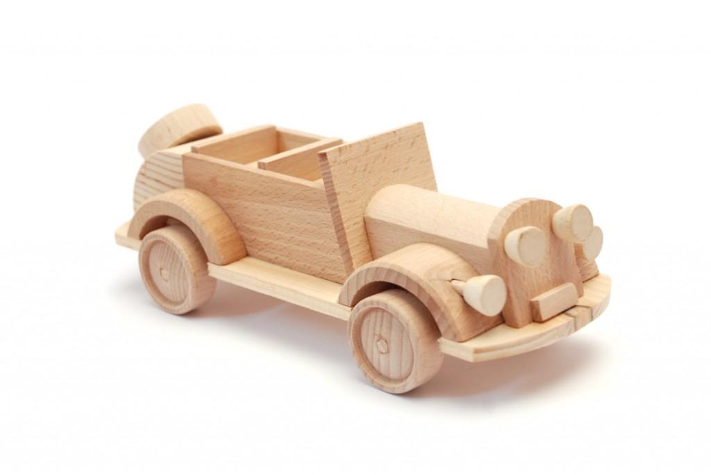 4 Wooden car