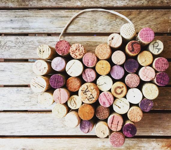4 Wine Cork Heart