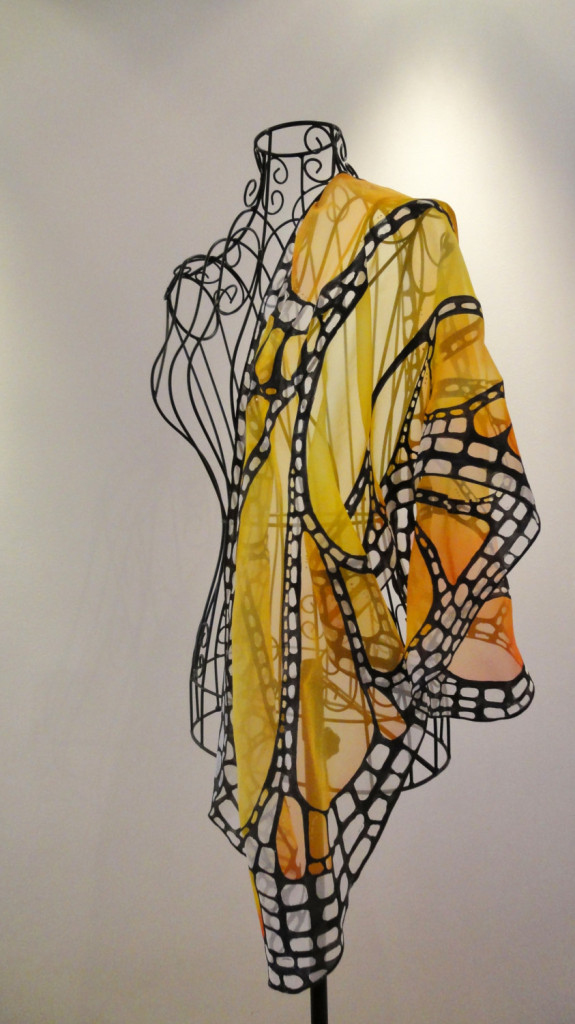 5 Hand painted silk scarf