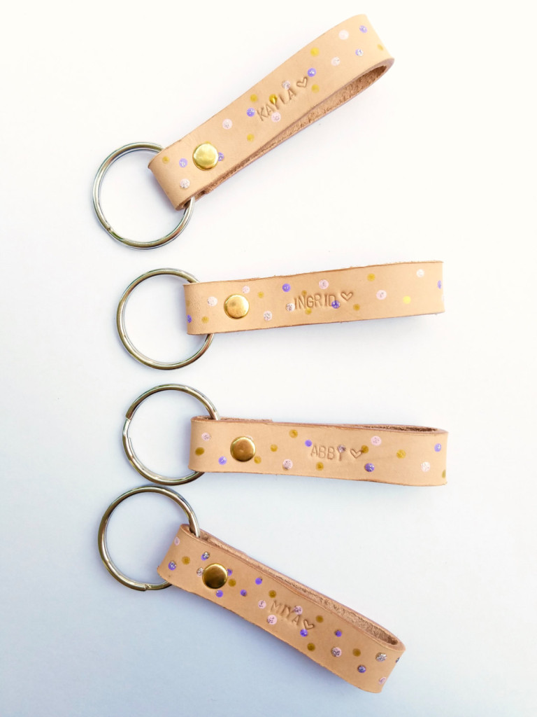 1 Leather Keychains