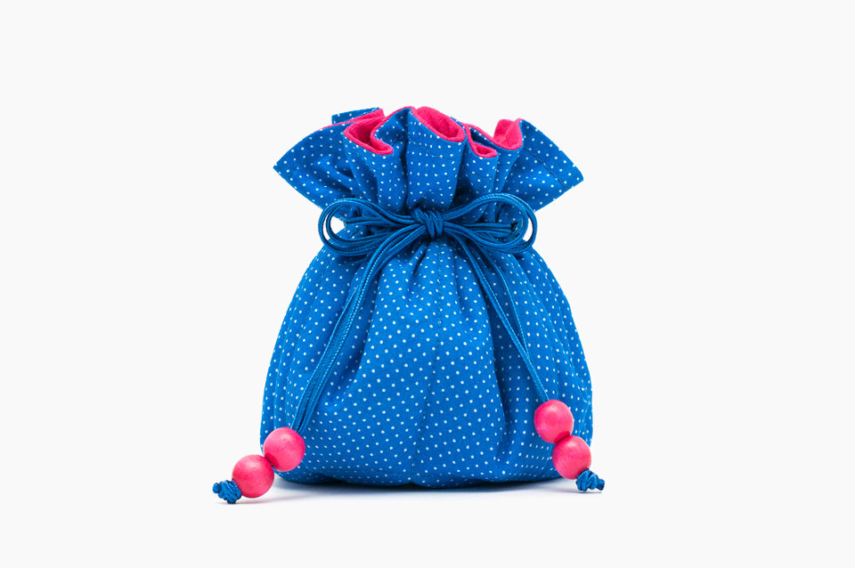 3 Jewelry Bag Cobalt Blue Pink