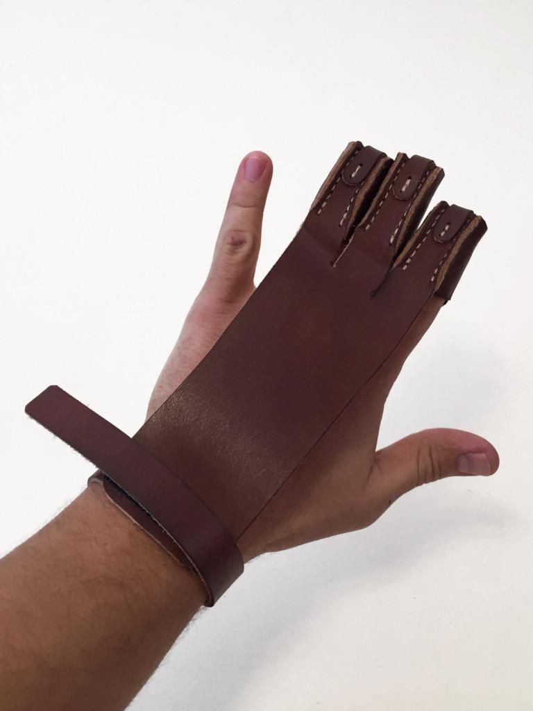 5 Leather Archery Glove