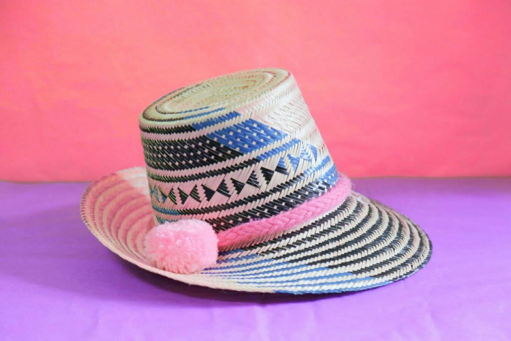 1 Wayuu Beach Hat Pom Pom Straw