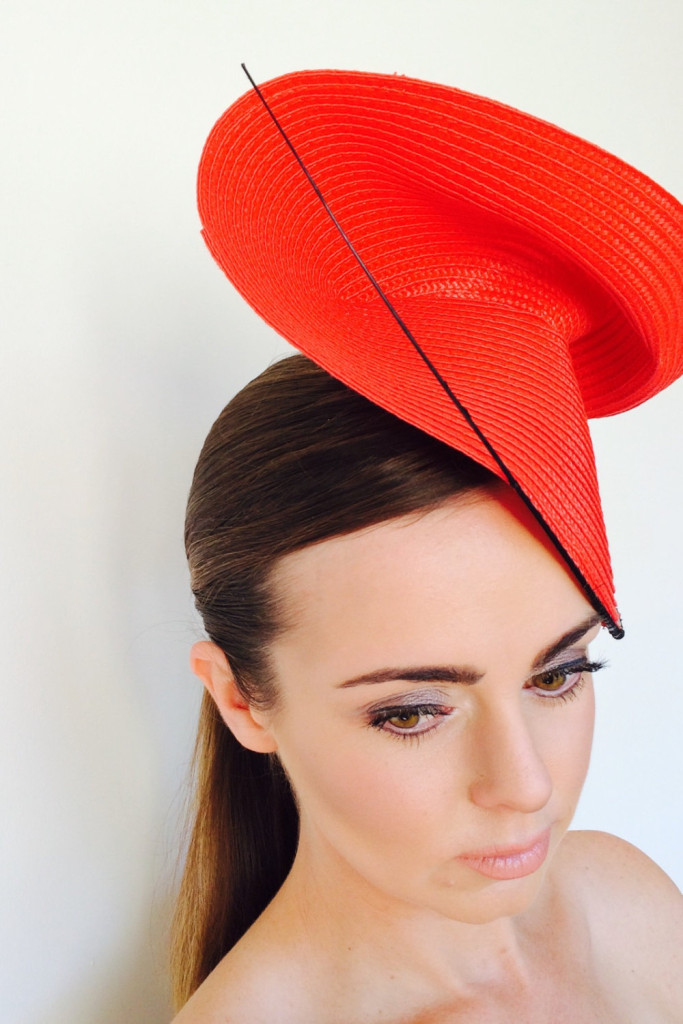 3 Red fascinator