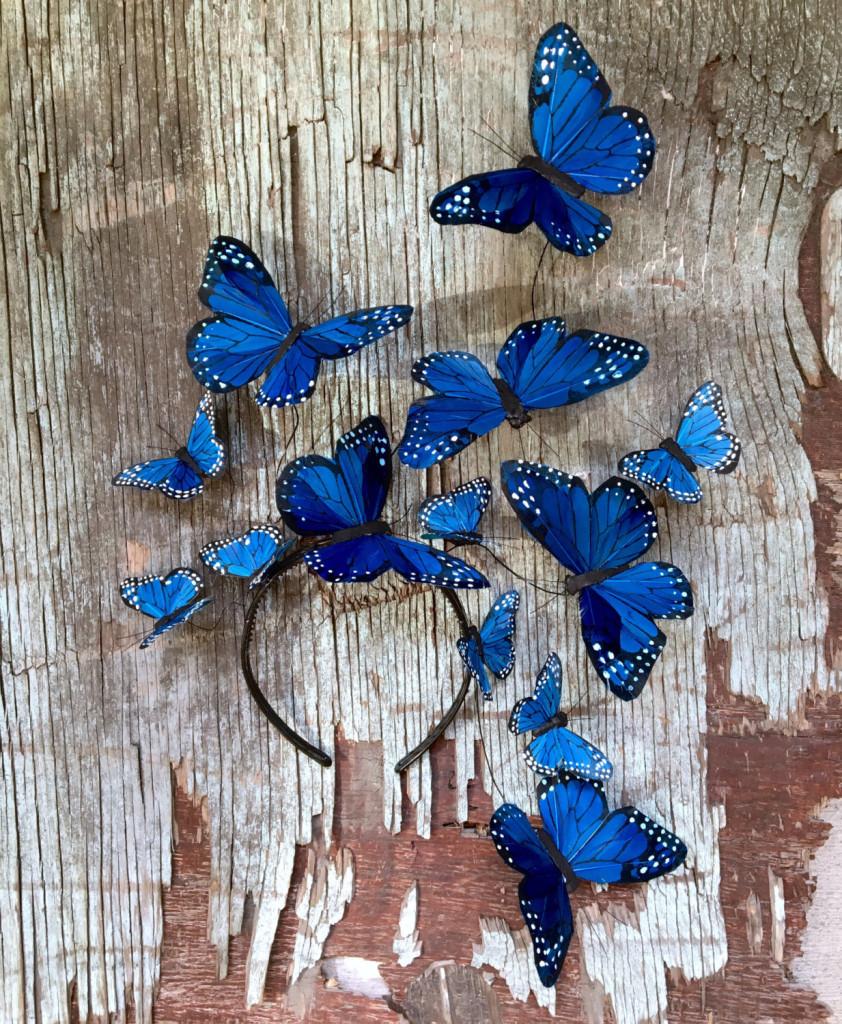 5 Wild Blue Yonder Monarch Butterfly Fascinator