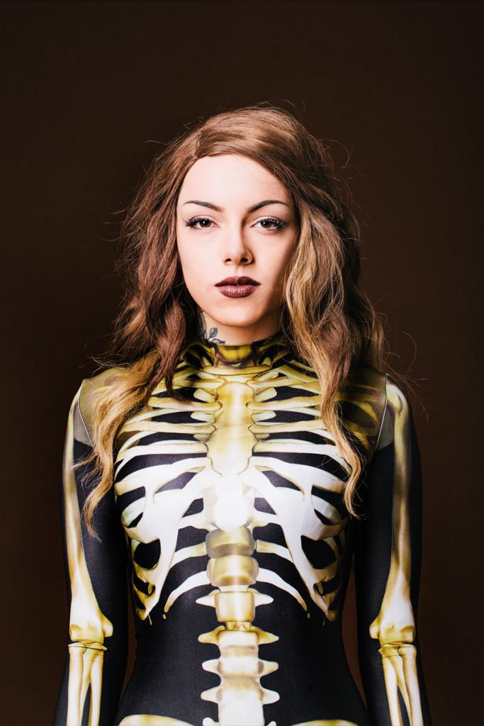 Designer Skeleton Costume