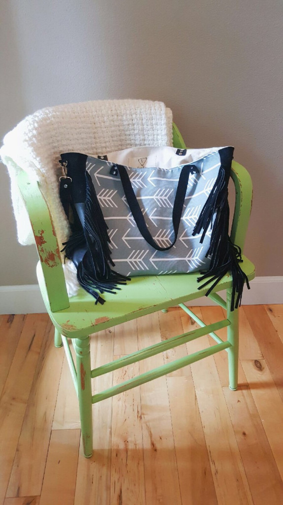 2 Canvas and Leather Diaper Bag