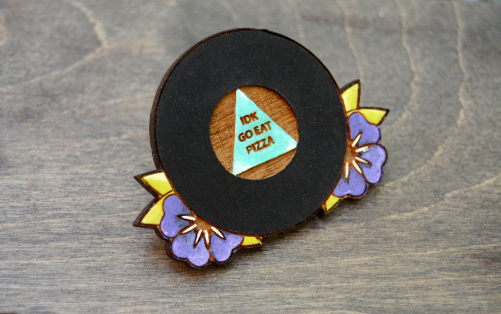 2 Pizza pin Pizza magnet