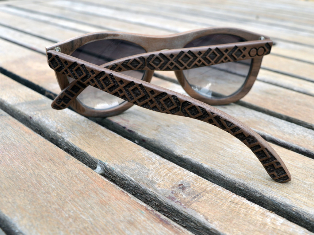 3 Engraved Wooden Sunglasses
