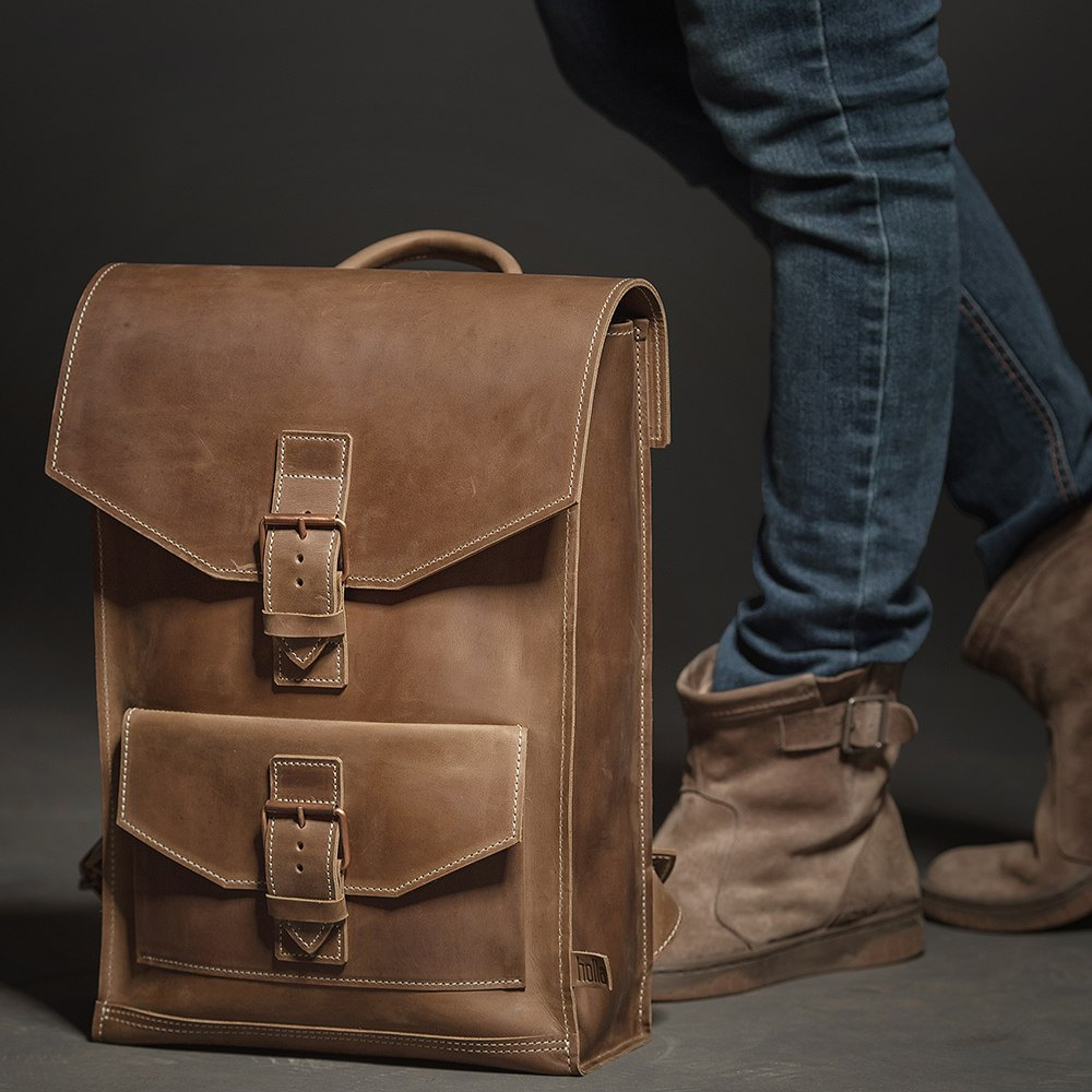 3 Leather backpack