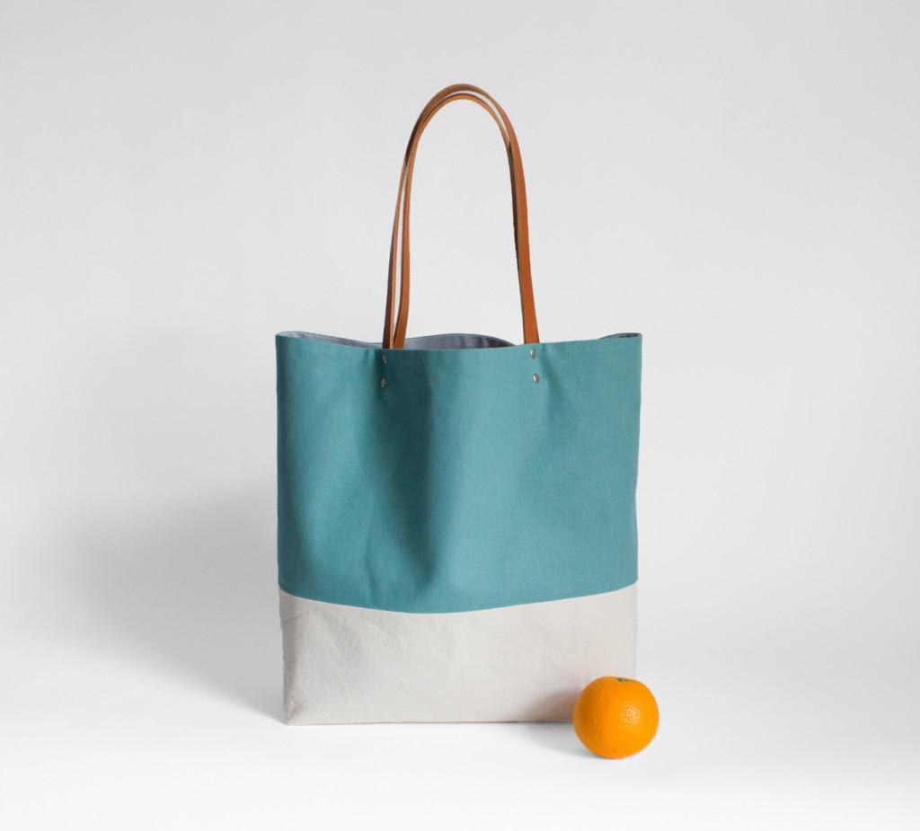 1 Tote bag shopper turquoise petrol