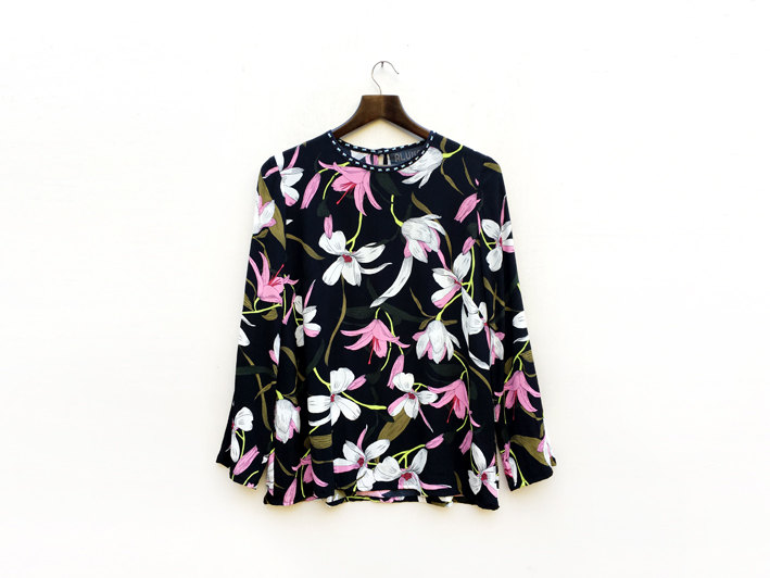 2 Black Floral Blouse