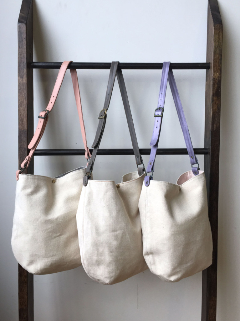 2 Canvas and Leather Tote