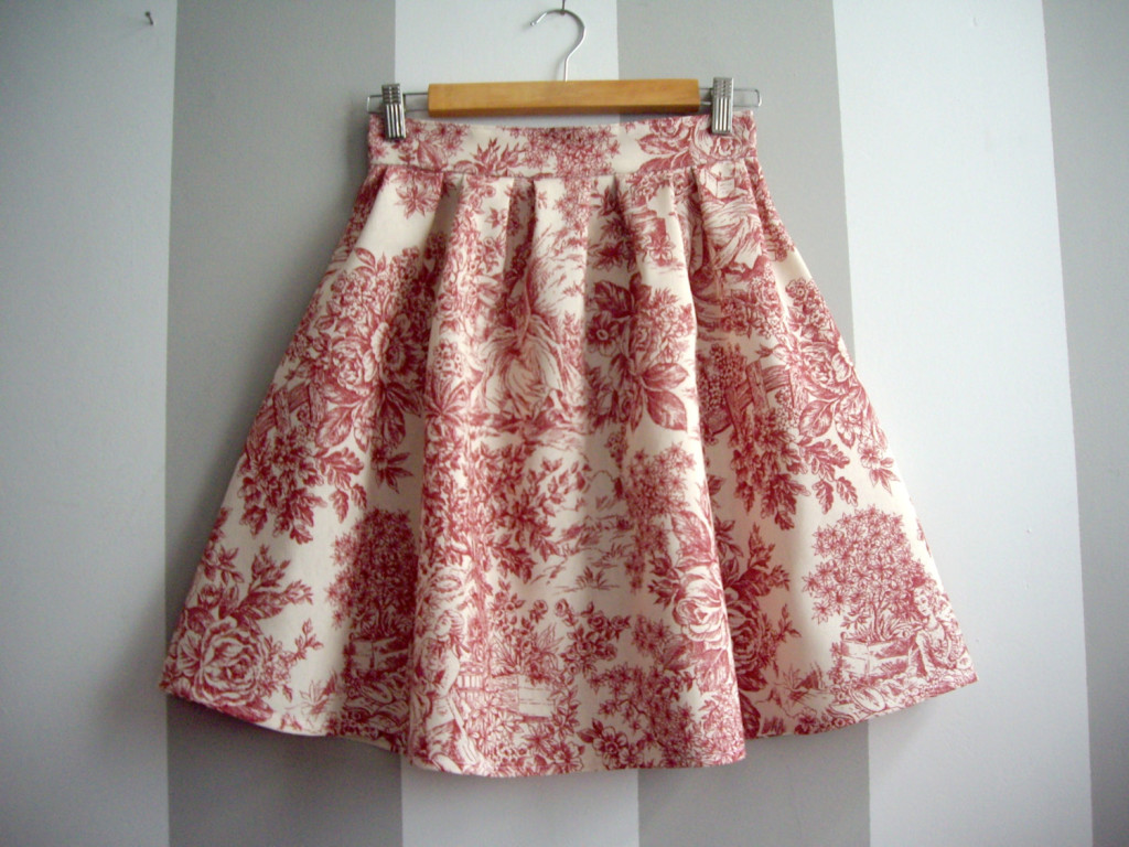 4 Toile de Jouy skirt