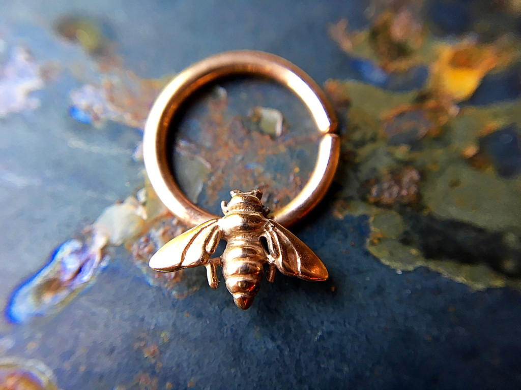5 Rose Gold Bee Septum Ring
